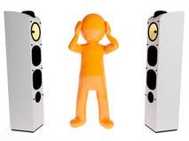 Zwei große laute Lautsprecher Lizenzfreie Stockfotografie
