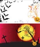 Zwei grunge Halloween-Felder. Lizenzfreies Stockfoto