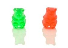 Zwei gummiartige Bären. Stockbild