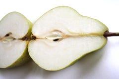 Zwei Hälften der Birnen lizenzfreies stockbild