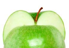 Zwei Hälften eines Apfels Stockbilder