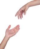 Zwei Hände Stockfotos