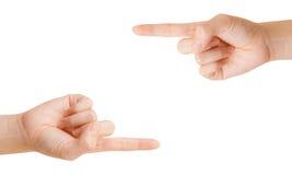 Zwei Hände. Lizenzfreie Stockfotos