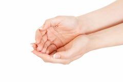 Zwei Hände der Frauen Lizenzfreie Stockfotos
