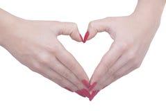 Zwei Hände, die ein Inneres bilden Stockfoto