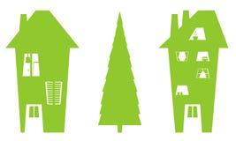 Zwei Häuser Stock Abbildung