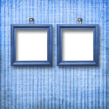 Zwei hölzerne Rahmen für Porträtmalerei Lizenzfreies Stockbild
