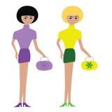 Zwei hübsche Mädchen Lizenzfreies Stockbild