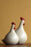 Zwei Hühner Stockfoto