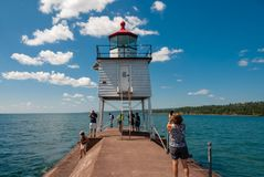 Zwei Hafen-Leuchtturm lizenzfreies stockfoto