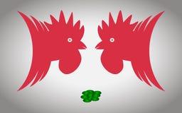 Zwei Hahnen Stockbilder