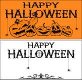 Zwei Halloween-Fahnen Stockfoto