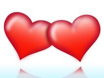 Zwei Herzen Stockbild