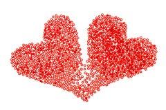 Zwei Herzen als eins Stockfoto