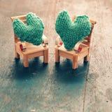 Zwei Herzen sind zusammen Lizenzfreies Stockbild
