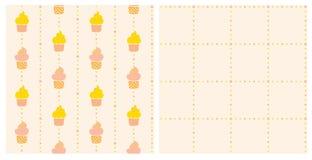 Zwei Hintergründe - Kuchen Lizenzfreies Stockbild