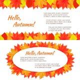 Zwei horizontale Fahnen des Herbstes Stockfotografie