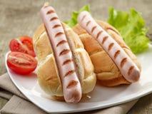 Zwei Hotdogs Stockfoto