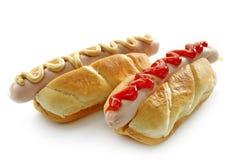 Zwei Hotdogs Stockfotos