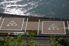 Zwei Hubschrauber-Landeplätze Lizenzfreies Stockbild