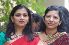 Zwei indische Frauen Stockbild