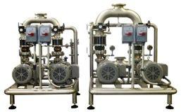 Zwei industrielle Pumpen auf Weiß Lizenzfreie Stockfotografie