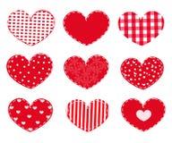 Zwei Innere Glücklicher Valentinsgruß `s Tag Stockbilder