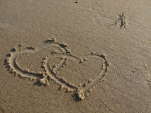 Zwei Innere im Sand Stockfoto