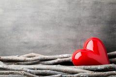 Zwei Innere Valentine Day-Grußkarten Stockfotos