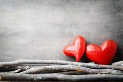 Zwei Innere Valentine Day-Grußkarten Lizenzfreies Stockbild