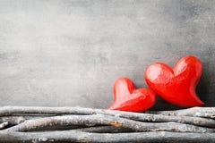 Zwei Innere Valentine Day-Grußkarten Lizenzfreie Stockfotos