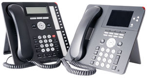 Zwei IP-Telefone Stockfotografie