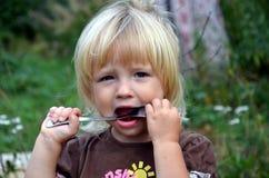 Zwei Jahre alte Mädchen Stockfoto