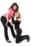 Zwei junge Frauen der reizvollen Schönheit Stockfotografie