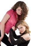 Zwei junge Frauen der reizvollen Schönheit Stockbilder