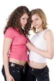 Zwei junge Frauen der Schönheit Stockbilder