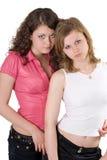 Zwei junge Frauen der Schönheit. Lizenzfreies Stockbild