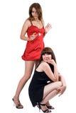Zwei junge Frauen der Schönheit lizenzfreies stockfoto