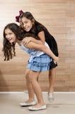 Zwei junge Freunde Stockfotografie