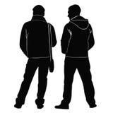Zwei junge Leute stehen als Nächstes Lizenzfreies Stockbild