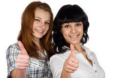 Zwei junge Mädchen Lizenzfreies Stockfoto