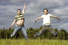 Zwei junge Männer Lizenzfreie Stockfotos