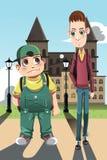 Zwei Jungen lizenzfreie abbildung