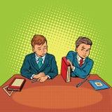 Zwei Jungen in der Schule, bulling, Unterscheidung lizenzfreie abbildung