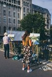 Zwei Künstler in Rumänien stockfoto