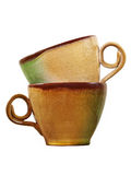 Zwei Kaffeetasse. Getrennt. lizenzfreie stockfotografie