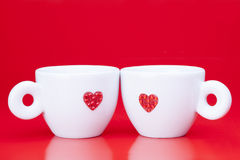 Zwei Kaffeetassen Lizenzfreies Stockfoto