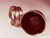 Zwei Kameraobjektiv Lizenzfreie Stockbilder