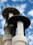 Zwei Kamine Stockfoto