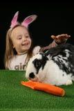 Zwei Kaninchen - Vertikale Lizenzfreies Stockfoto